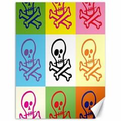 Skull Canvas 18  x 24  (Unframed) by Siebenhuehner