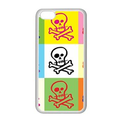 Skull Apple Iphone 5c Seamless Case (white) by Siebenhuehner