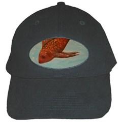 Gold Fish Black Baseball Cap by rokinronda