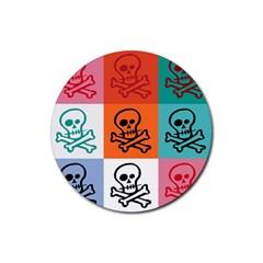 Skull Drink Coaster (round) by Siebenhuehner