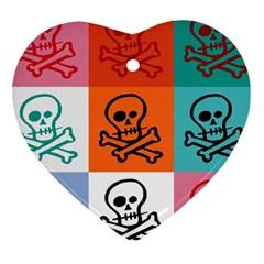 Skull Heart Ornament (two Sides) by Siebenhuehner