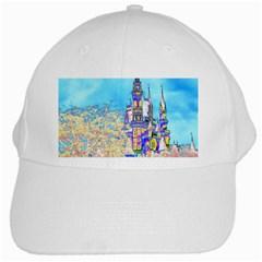 Castle For A Princess White Baseball Cap by rokinronda