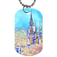 Castle For A Princess Dog Tag (two Sided)  by rokinronda