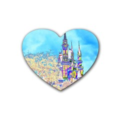 Castle For A Princess Drink Coasters (heart) by rokinronda