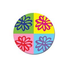 Flower Magnet 3  (round) by Siebenhuehner
