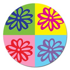 Flower Magnet 5  (round) by Siebenhuehner