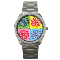 Flower Sport Metal Watch by Siebenhuehner