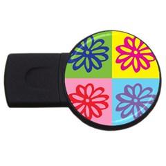 Flower 4gb Usb Flash Drive (round) by Siebenhuehner