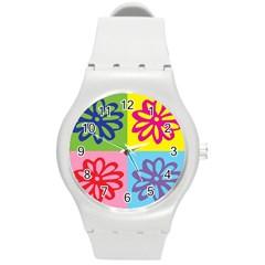 Flower Plastic Sport Watch (medium) by Siebenhuehner
