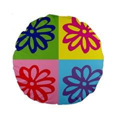 Flower 15  Premium Round Cushion  by Siebenhuehner
