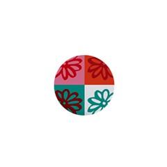 Flower 1  Mini Button Magnet by Siebenhuehner