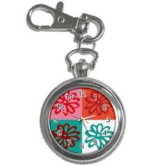 Flower Key Chain Watch by Siebenhuehner