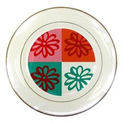 Flower Porcelain Display Plate by Siebenhuehner