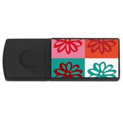 Flower 4gb Usb Flash Drive (rectangle) by Siebenhuehner