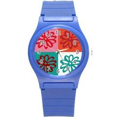Flower Plastic Sport Watch (small) by Siebenhuehner
