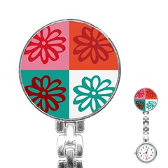 Flower Stainless Steel Nurses Watch by Siebenhuehner