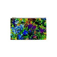 The Neon Garden Cosmetic Bag (small) by rokinronda