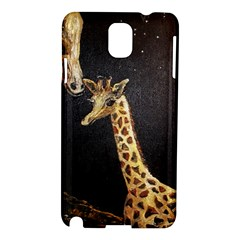 Baby Giraffe And Mom Under The Moon Samsung Galaxy Note 3 N9005 Hardshell Case