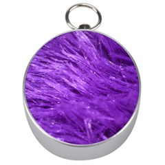 Purple Tresses Silver Compass by FunWithFibro