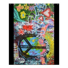 Prague Graffiti Shower Curtain 60  X 72  (medium) by StuffOrSomething