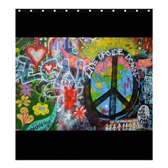 Prague Graffiti Shower Curtain 66  X 72  (large) by StuffOrSomething