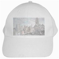 Eiffel Tower Paris White Baseball Cap by rokinronda