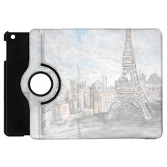 Eiffel Tower Paris Apple Ipad Mini Flip 360 Case by rokinronda
