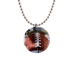 Football Button Necklace by uniquedesignsbycassie