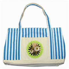 20131123 3 Blue Striped Tote Bag by SomethingLouisaMade