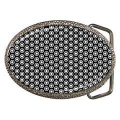 Groovy Circles Belt Buckle (oval) by StuffOrSomething