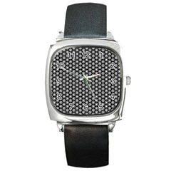 Groovy Circles Square Leather Watch by StuffOrSomething