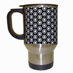 Groovy Circles Travel Mug (white) by StuffOrSomething