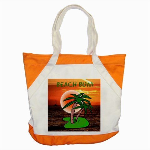 Beachbum Tote Bag By Joy Johns   Accent Tote Bag   Oxa6fuu6fyy9   Www Artscow Com Front