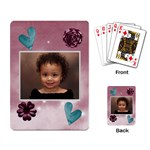 burgandy cards - Playing Cards Single Design