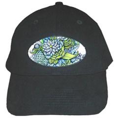 Peaceful Flower Garden Black Baseball Cap by Zandiepants