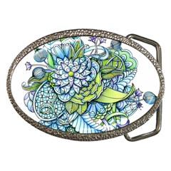 Peaceful Flower Garden Belt Buckle (oval) by Zandiepants