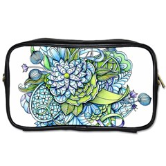 Peaceful Flower Garden Travel Toiletry Bag (two Sides) by Zandiepants
