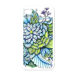 Peaceful Flower Garden Apple iPhone 4 Case (White) by Zandiepants