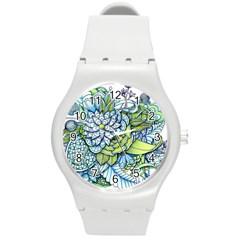 Peaceful Flower Garden Plastic Sport Watch (medium) by Zandiepants