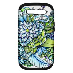 Peaceful Flower Garden Samsung Galaxy S Iii Hardshell Case (pc+silicone) by Zandiepants
