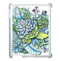 Peaceful Flower Garden Apple Ipad 3/4 Case (white) by Zandiepants