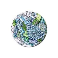 Peaceful Flower Garden 2 Drink Coasters 4 Pack (round) by Zandiepants