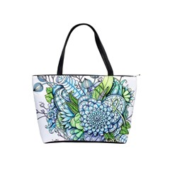 Peaceful Flower Garden 2 Large Shoulder Bag by Zandiepants
