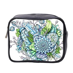Peaceful Flower Garden 2 Mini Travel Toiletry Bag (two Sides) by Zandiepants