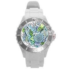 Peaceful Flower Garden 2 Plastic Sport Watch (large) by Zandiepants