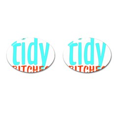 Tidy Bitcheslarge1 Fw Cufflinks (oval) by tidybitches