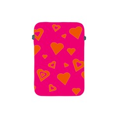 Hot Pink And Orange Hearts By Khoncepts Com Apple Ipad Mini Protective Sleeve by Khoncepts
