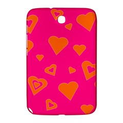 Hot Pink And Orange Hearts By Khoncepts Com Samsung Galaxy Note 8 0 N5100 Hardshell Case  by Khoncepts