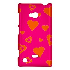Hot Pink And Orange Hearts By Khoncepts Com Nokia Lumia 720 Hardshell Case by Khoncepts
