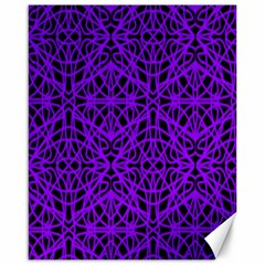 Black And Purple String Art Canvas 16  X 20  by Khoncepts